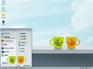 可爱温馨杯子电脑主题