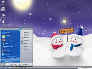 雪人宝宝电脑主题