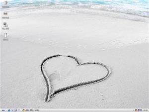 沙滩心形电脑主题