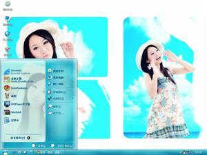 清纯可爱美女电脑主题