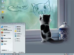 调皮小猫电脑主题