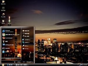 台北夜景电脑主题