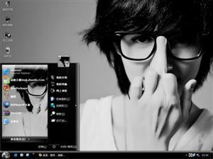眼镜帅哥电脑主题