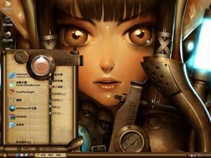 机械少女电脑主题