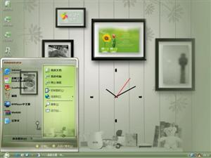 幸福时钟电脑主题