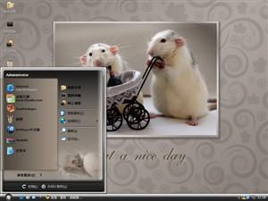 仓鼠一家亲电脑主题