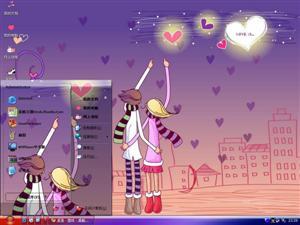 浪漫爱情卡通电脑主题