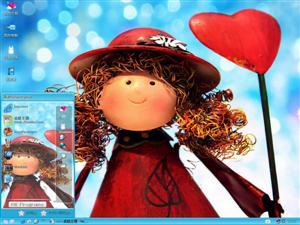 可爱木偶娃娃电脑主题