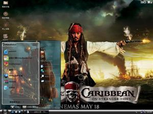 影视加勒比海盗4电脑主题