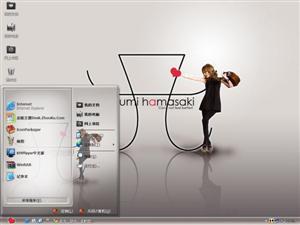 滨崎步美女明星电脑主题