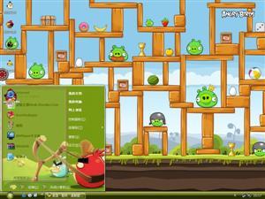 游戏愤怒的小鸟电脑主题