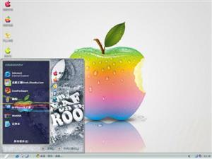 3D彩色苹果电脑主题