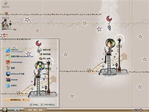 韩国手绘插画电脑主题