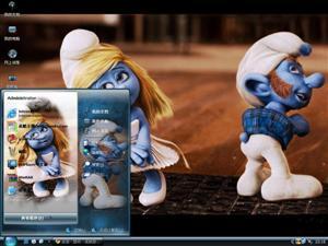蓝精灵影视电脑主题