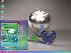 心形水晶之恋电脑主题