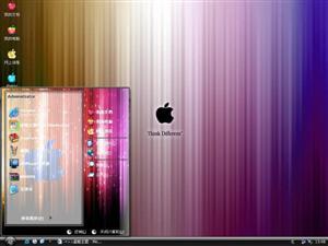 苹果黑色魅惑电脑主题