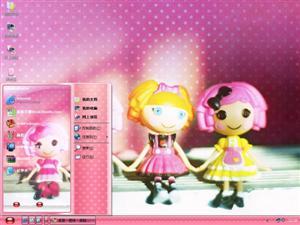 可爱娃娃电脑主题