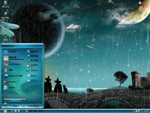 童话般的流星雨电脑主题
