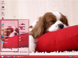 懒睡狗狗电脑主题