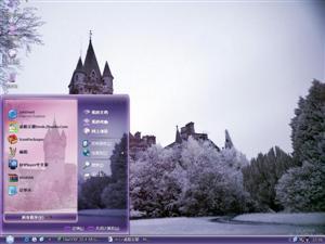 美丽城堡电脑主题