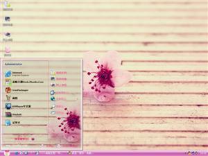 粉色桃花电脑主题