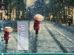 一个人的冬天电脑主题