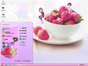 草莓女孩电脑主题