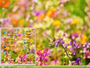 花丛中蝴蝶电脑主题