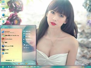 王秋紫美女电脑主题