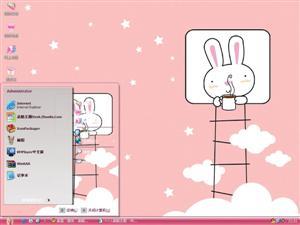 卡通兔电脑主题