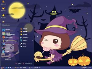 可爱小魔女电脑主题