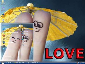 浪漫爱心心形电脑主题
