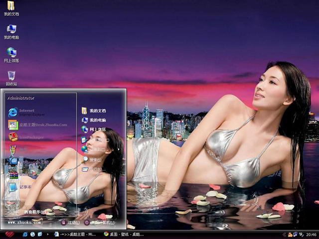 林志玲美女明星电脑主题图片
