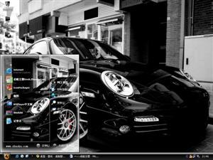 黑色保时捷电脑主题