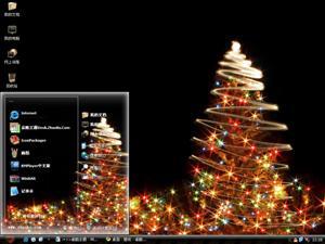 圣诞闪耀装饰电脑主题