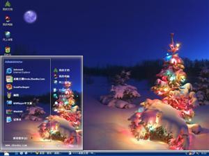 圣诞节日彩灯电脑主题