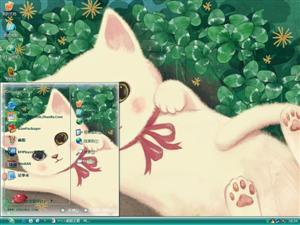 调皮猫电脑主题