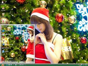 果子MM圣诞前夕电脑主题