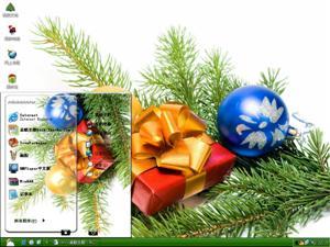 圣诞节彩球电脑主题