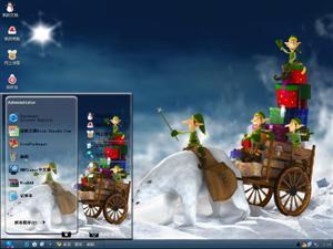 魔法圣诞节电脑主题