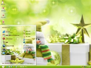 绿色圣诞电脑主题
