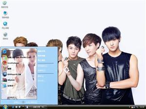 EXO-M明星组合电脑主题
