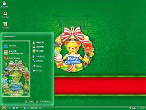 圣诞祝福电脑主题