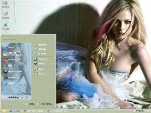 艾薇儿美女明星电脑主题