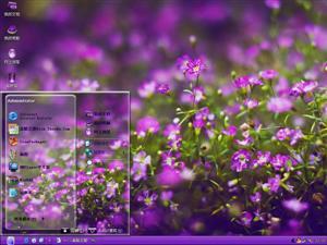 紫色海洋电脑主题