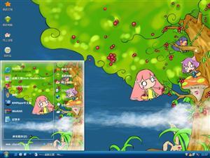米亚米拉趣味可爱卡通电脑主题