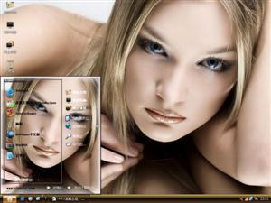 欧美清纯美女电脑主题