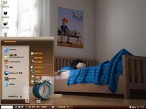 3D宅男生活电脑主题