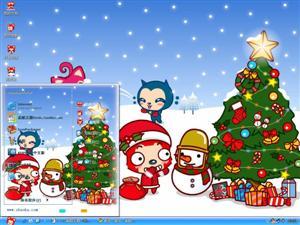 圣诞阿狸电脑主题