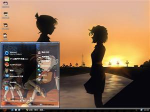 夕阳的恋情电脑主题